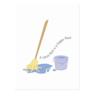 A Clean Floor Postcard