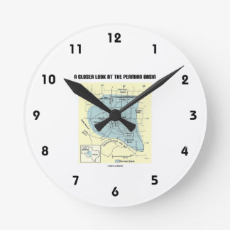 A Closer Look At The Permian Basin (Map) Round Clock