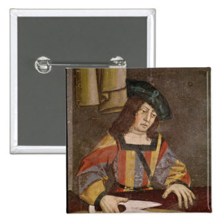 A Cloth Merchant Cutting Cloth 15 Cm Square Badge