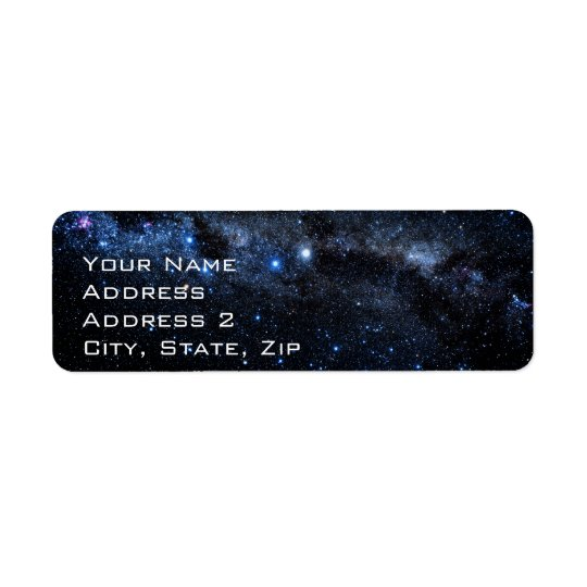 A Cluster of Stars Return Address Label