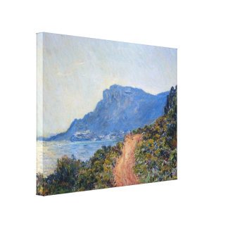 A coastal view with a bay by Claude Monet Gallery Wrapped Canvas