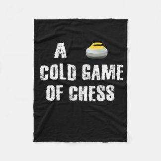 A Cold Game of Chess Curling Custom Fleece Blanket