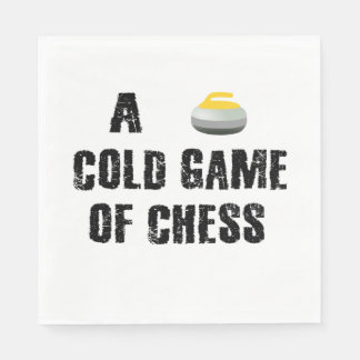 A Cold Game of Chess Curling Paper Napkins