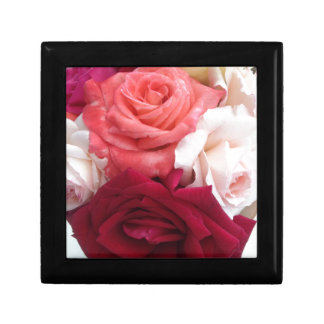 A collection of colourful roses gift box