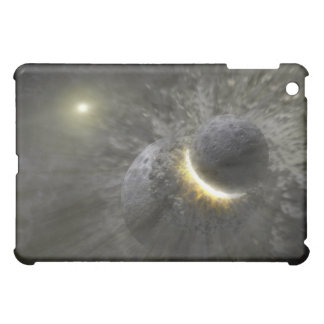 A collision between massive objects in space iPad mini covers