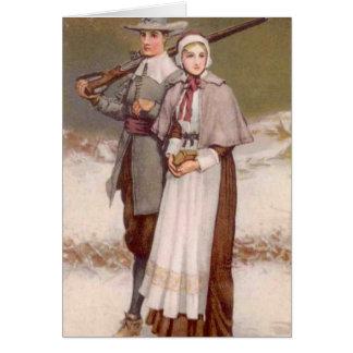 A Colonial Thanksgiving, Card