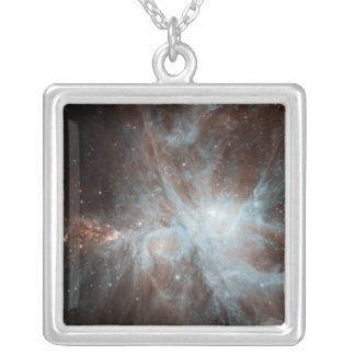 A colony of hot young stars in the Orion Nebula Silver Plated Necklace