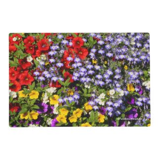 A Colorful Basket of Summer Annual Flowers Placemat