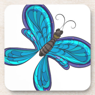 A colorful butterfly coaster