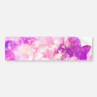 A Colorful Geometric Nebula Clouds Bumper Stickers