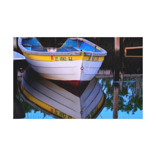 A Colorful Row Boat Gallery Wrapped Canvas