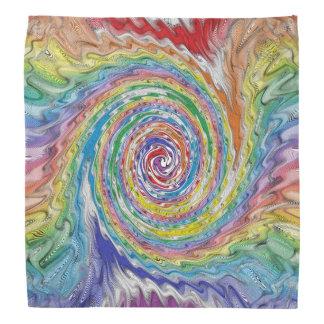 A Colorful Splatter Bandana