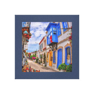 A colorful Street in spin Stretched Canvas Print