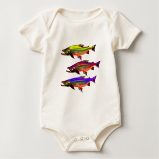 A Colorful Tail Baby Bodysuit