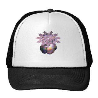 A colorful teardrop ring trucker hat