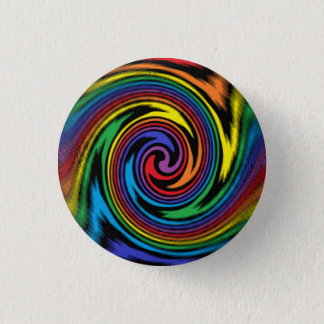A Colorful Turbulence 3 Cm Round Badge