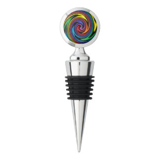 A Colorful Turbulence Wine Stopper