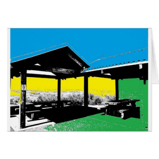A Colorful View Greeting Card