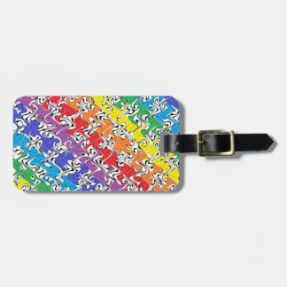 A Colourful Abstract Luggage Tag