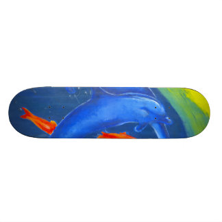 A Colourful aquatic skateboard design