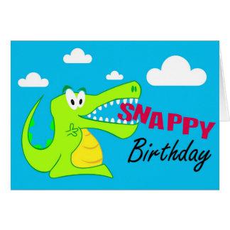 A Colourful Crocodile Fun Happy Birthday Card