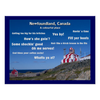 A Colourful Place - Newfoundland Poster