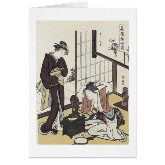 A Comparison of Charms, Kiyonaga, 1780s Card