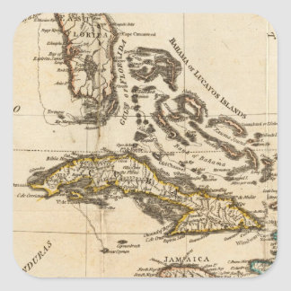 A Compleat Map of the West Indies Square Sticker