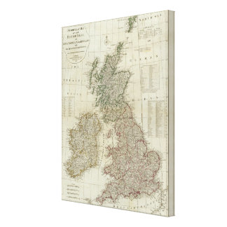 A complete map of the British Isles Gallery Wrap Canvas
