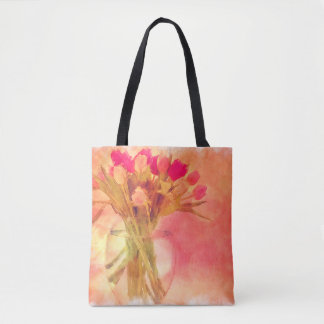 A Composition Of Tulips Tote Bag