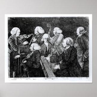 A Concert at Cambridge, 1770 Posters