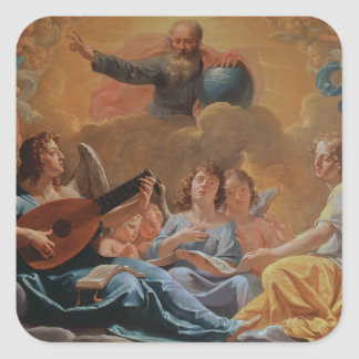 A Concert of Angels Square Sticker