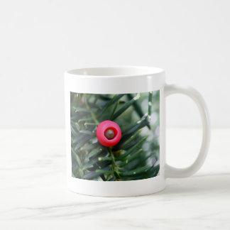 A cone of a yew (Taxus baccata) Coffee Mug