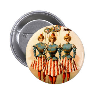 A Contented Woman Campaign Girls 6 Cm Round Badge