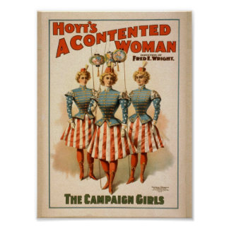 A Contented Woman, 'The Campaign Girls' Retro Thea Posters