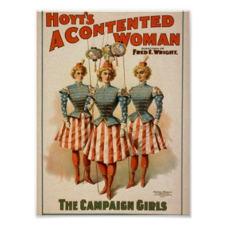 A Contented Woman, 'The Campaign Girls' Retro Thea Print