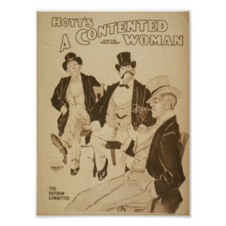A Contented Woman, 'The Reform Committee' Retro Th Print