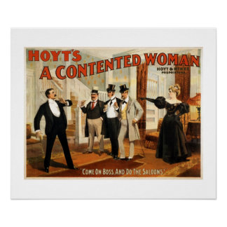 A Contented Woman Vintage Theater Poster