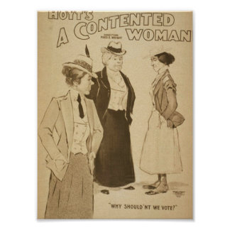 A Contented Woman, 'Why Shouldn't We Vote?' Posters