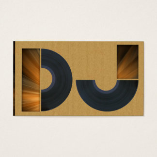 A cool carboard DJ business card