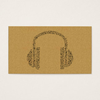 A cool cardboard DJ music icon business card