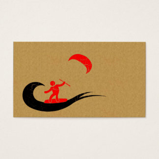 A cool cardboard kitesurf business card