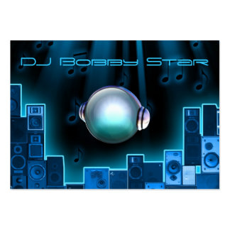 A cool DJ blue laser business card with 3D logo.