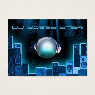 A cool DJ blue laser business card with 3D logo.