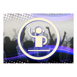 A cool DJ logo glow business card