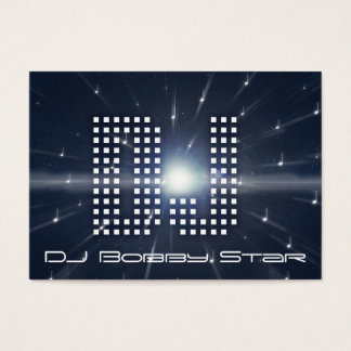 A cool DJ spacewarp business card