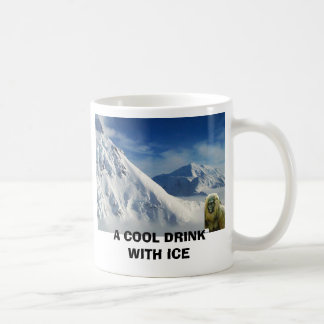 A COOL DRINK WITH ICE CLASSIC WHITE COFFEE MUG