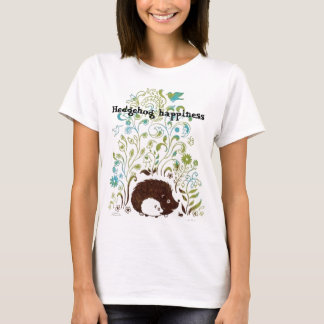 a cool hedgehog print, Hedgehog happiness T-Shirt
