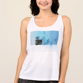 A cool summer top with ocean birds and blue skies
