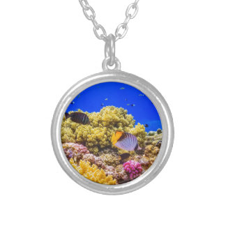 A Coral Reef in the Red Sea near Egypt Silver Plated Necklace